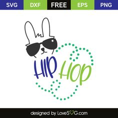 *** FREE SVG CUT FILE for Cricut, Silhouette and more *** Hip hop
