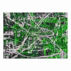 17 x 24 Kess InHouse Kess Original Celtic-Texture Green White Memory Foam Bath Mat