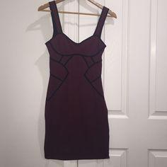 Bcbg Burgandy Dress
