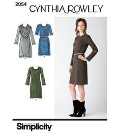 Simplicity Pattern US2054H5   Misses' Dresses. Cynthia Rowley Sizes 6-14, , hi-res Joann