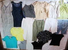 $9!!  16pc Huge Designer LOT Size M L 8 Womens Clothes Clothing Career  #GAPVeraWangBetseyJohnsonNineWestCacheHotCottonTomBarra