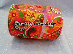 15 Paisley Psychedelic Retro Ribbon Bows Hair by BowneensBowSupply, $4.99