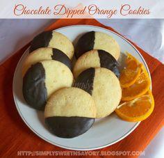 Simply Sweet 'n Savory: Chocolate Dipped Orange Cookies