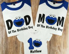 Cookie Monster 1st Birthday Shirt Etsy First Boy Themes