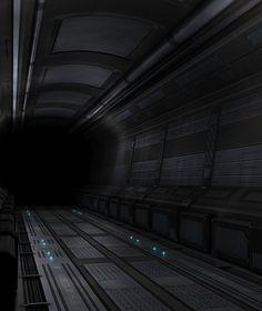 Sci-Fi Hallway by beere ( http://beere.deviantart.com/art/Sci-Fi-Hallway-128459651, 2009 )