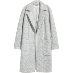 H&M Wool-blend Coat $49.99 (666.815 IDR) ❤ liked on Polyvore featuring outerwear, coats, jackets, tops, wool blend coat, h&m coats and plum coat