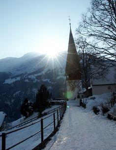 Wengen, Switzerland  This church is gorgeous!!