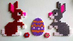Easter hama perler beads