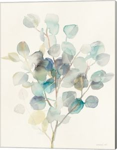 Help your wall blossom with this Metaverse Art Eucalyptus III canvas wall art. Watercolor Leaves, Watercolor Cards, Abstract Watercolor, Watercolor Illustration, Watercolor Paintings, Watercolors, Plant Drawing, Painting & Drawing, Watercolor Techniques