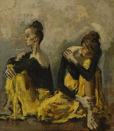 Moses Soyer  -  Dancers in Yellow
