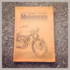 @itsmeamym scored this hidden wealth of knowledge today at the @socalcycleswapmeet #vintage #motocamping #Padgram