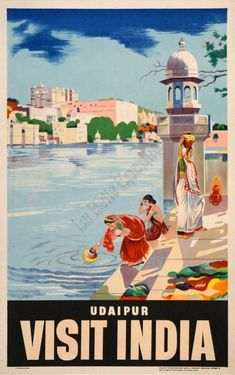 The Travel Tester vintage travel poster collection. It's time to get nostalgic with this week's retro showcase: Vintage Travel Posters India. Retro Poster, Poster S, Poster Prints, Art Prints, India Poster, Udaipur India, Tourism Poster, Travel Ads, Photo Vintage