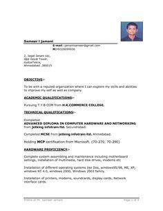 sample resume format resume pinterest resume format resume