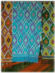 geometric rainbow ( Yakan weaving ) Ethnic Patterns, Textile Patterns, Print Patterns, Philippines Culture, Tropical Fashion, Weaving Textiles, Ethnic Print, Tribal Art, Traditional Design