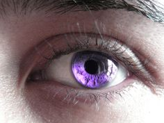 Violet eyes.