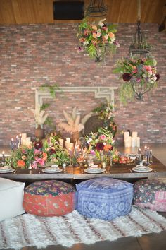 Wedding Decorations Bohemian romance tablescape featuring pieces from Found Vintage Rentals - Bohemian inspiration from The Colony House in Anaheim. Chic Wedding, Wedding Table, Wedding Backyard, Wedding Lounge, Wedding Pins, Wedding Ideas, Wedding Vintage, Wedding Pictures, Wedding Details