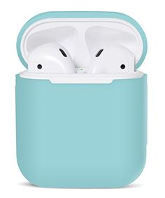 PodSkinz AirPods Case Protective Silicone Cover and Skin for Apple Airpods Charging Case (Diamond Blue)        affiliate link