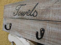 Towel Hanger  Rustic  Reclaimed wood hanger