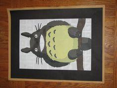 """My Neighbor Totoro"" in acrilic paint by Samwise Gamgee on Pinterest"