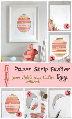 Paper Strip Easter Egg