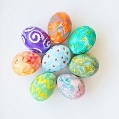 Watercolor Easter Eggs - Fun Family Crafts