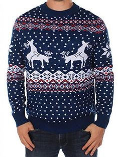 "Product review for Men's Ugly Christmas Sweater - Reindeer Climax Tacky Christmas Sweater Blue.    	 		 			 				 					Famous Words of Inspiration...""In essence, if we want to direct our lives, we must take control of our consistent actions. It's not what we do once in a while that shapes our lives, but what we do consistently.""					 				 				 					Tony Robbins 						— Click..."