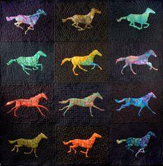 Animator Nina Paley designed a quilt inspired by 19th-century English photographer Eadweard Muybridge.