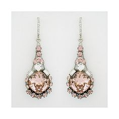 Haute Bride rose pendant earrings