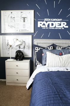 This room is a little boys DREAM! It is whimsical and dreamy that makes going to bed fun! Click the picture for the room reveal!
