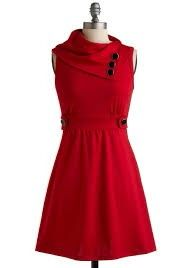 A red dress which reflects ur style