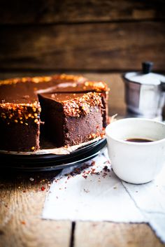 Chocolate Espresso Cheesecake #recipe