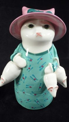 Hilarious Solveig Cox Shopping for Mice Mouse Fancy Cat w/ Sunday Hat Figurine