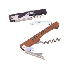 Wooden Handle Corkscrew With Bottle Opener - favors