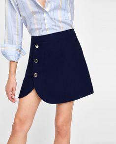 huge discount a98ba 4da8a Image 2 of BUTTONED MINI SKIRT from Zara Zara, Preppy, Mini Skirts, 18th