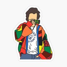Arte One Direction, One Direction Drawings, One Direction Harry, Harry Styles Dibujo, Harry Styles Drawing, Harry Styles Style, Harry Styles Baby, Printable Stickers, Cute Stickers