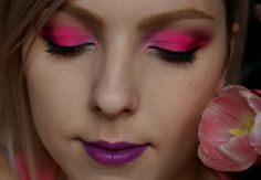 Dnešní Makeup: Sharp Neon Pink Make Up, Neon, Pink, Maquillaje, Hot Pink, Makeup, Neon Colors, Pink Hair, Bronzer Makeup