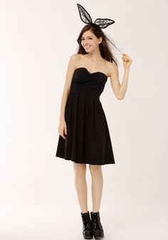 Bandeau Bodice Dress - Trendy Fully Lined Dress