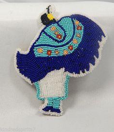 MOHAWK - glass beaded Fancy Shawl Dancer barette - NICE