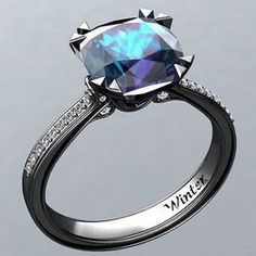 Alexandrite blk gold ring (not available)