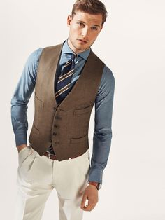GILET LIN PERSONAL TAILORING - Blazers - HOMMES - Luxembourg