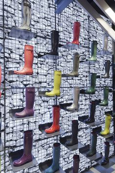 Hunter boots first flagship sore design by Checkland Kindleysides