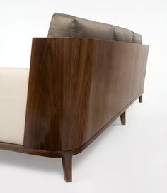 One of the most beautiful sofas. The craftsmanship is unbelievable.- Christian Liaigre at Holly Hunt 2008 Sofa Furniture, Modern Furniture, Furniture Design, Furniture Ideas, Banquettes, Sofa Design, Christian Liaigre, Holly Hunt, Beautiful Sofas