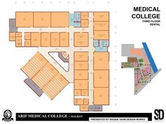 Medical College and Hospital Complex College Nursing, Medical College, College School, High School, New Architecture, Futuristic Architecture, School Building Design, Interior Design And Construction, Hospital Design