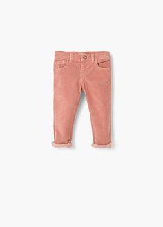 Corduroy slim-fit trousers