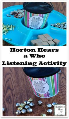 Horton Hears a Who Listening Activity - Your children will enjoy listening carefully as Horton did to hear noises.