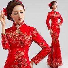 vestidos chinos para damas - Buscar con Google                                                                                                                                                      Más
