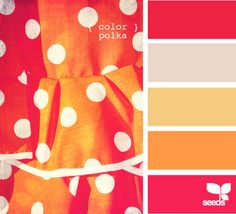 color polka - design seeds (I love the top and bottom colors, especially.)