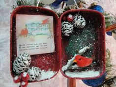 Christmas Altered Altoid Gum Tin