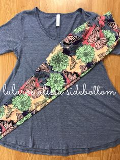 floral butterfly lularoe leggings paired with perfect t