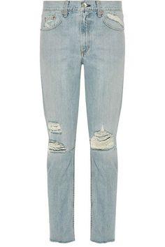 rag & bone | Marilyn distressed mid-rise skinny jeans | NET-A-PORTER.COM